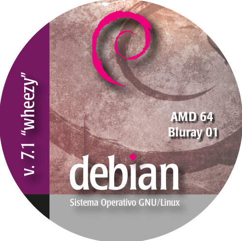 Disco BluRay de la  distribucion Debian