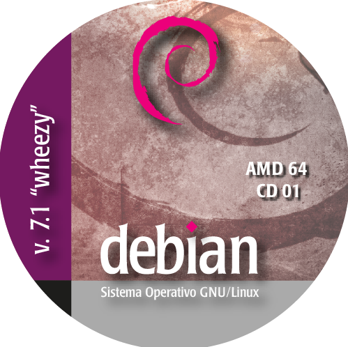 Disco CD de la  distribucion Debian